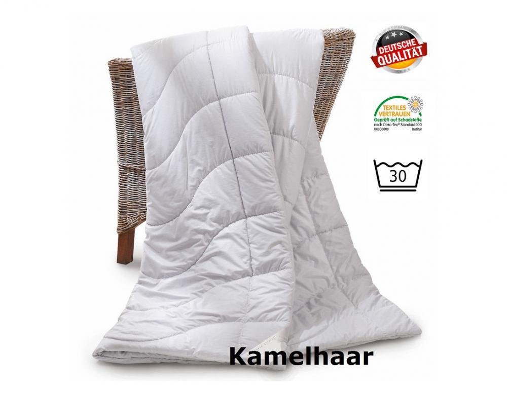 Kamelhaar-Steppbett für kühle Nächte im Angeb